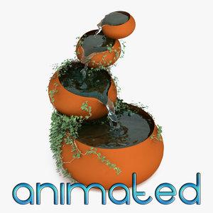 3d fountain animation