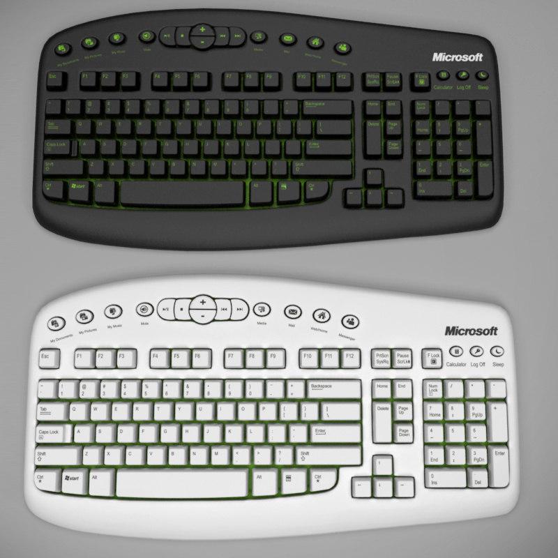 3d model wireless pc keyboard