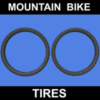 3d model mountain bike tires