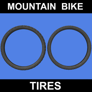 3d model mountain bike tires