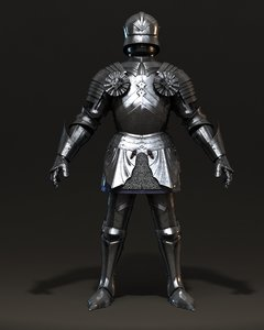 heavy armored knight armour 3d model