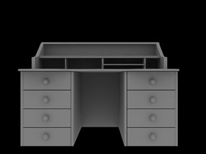 3d writing desk