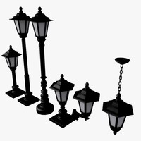 3d model streetlamp lamp street