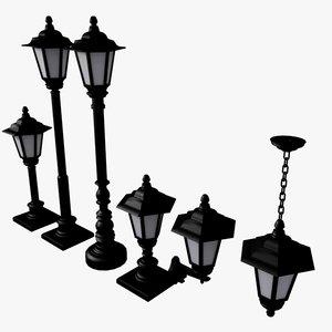 3d model streetlamp lamp street
