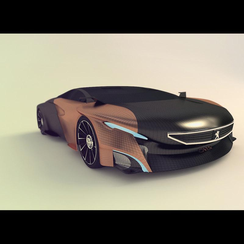 onyx concept car 3d max
