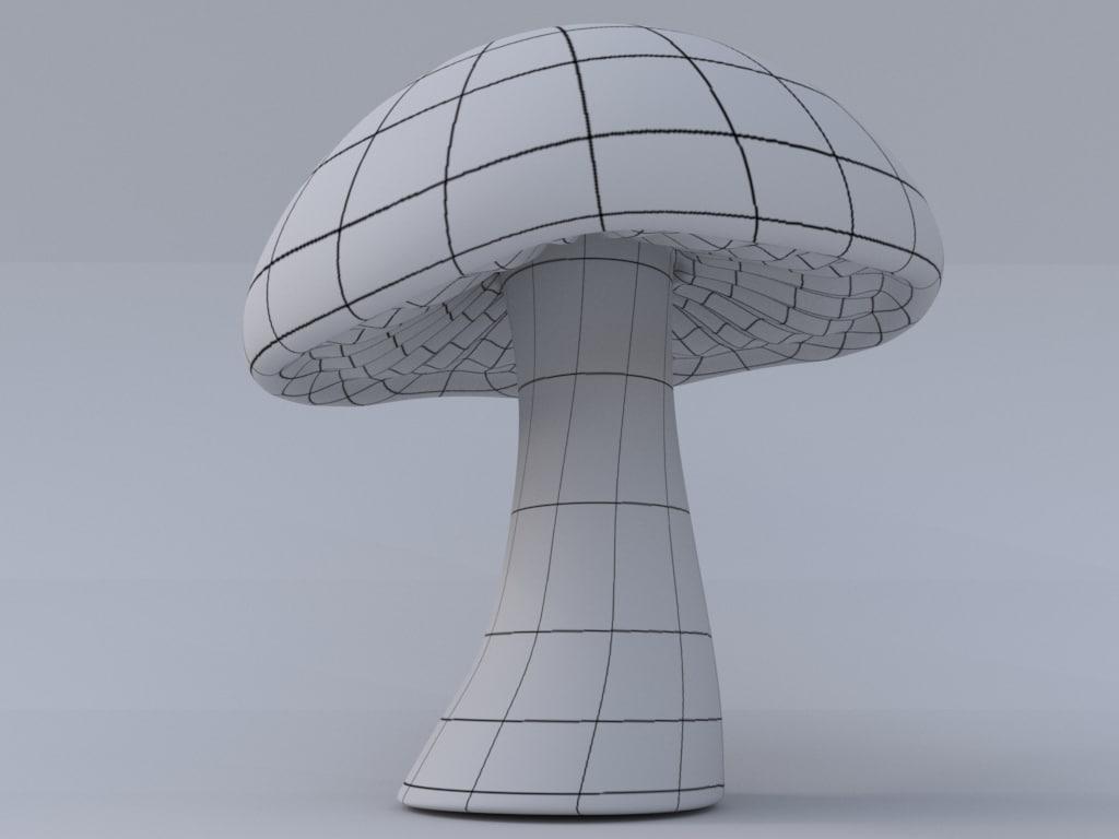 3d mushroom model