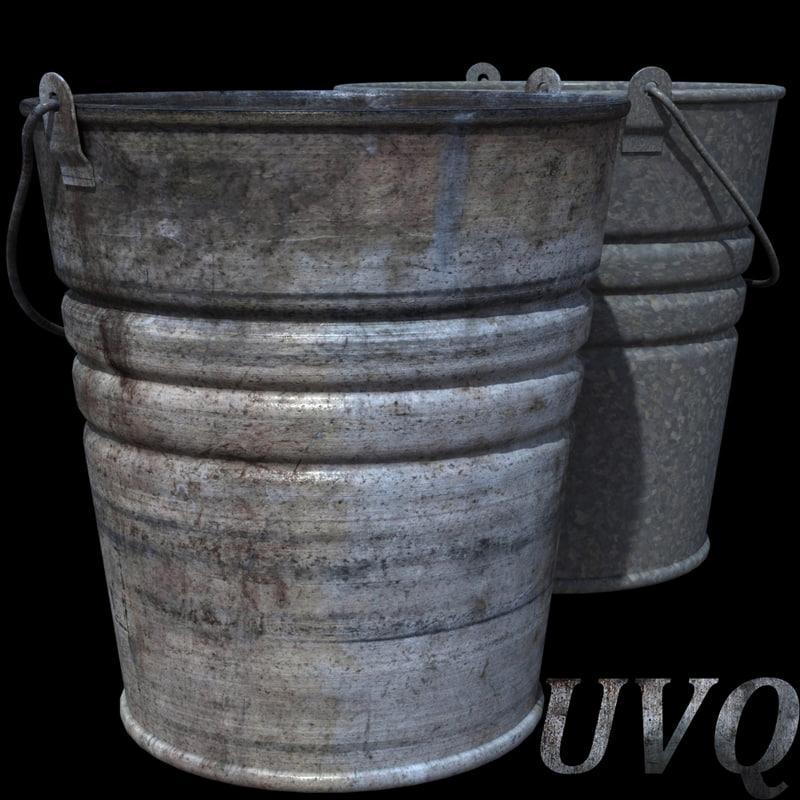 3ds max metal buckets