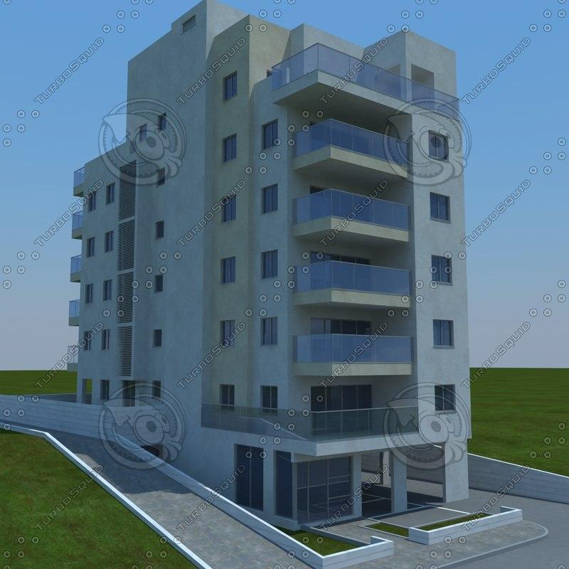 3d model of buildings 1 3