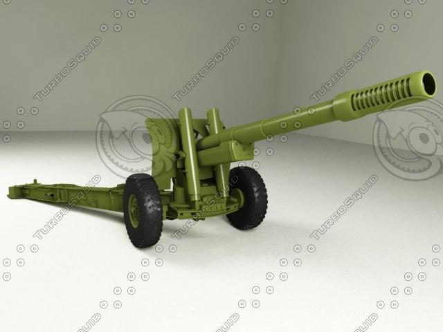 3d model heavy artillery