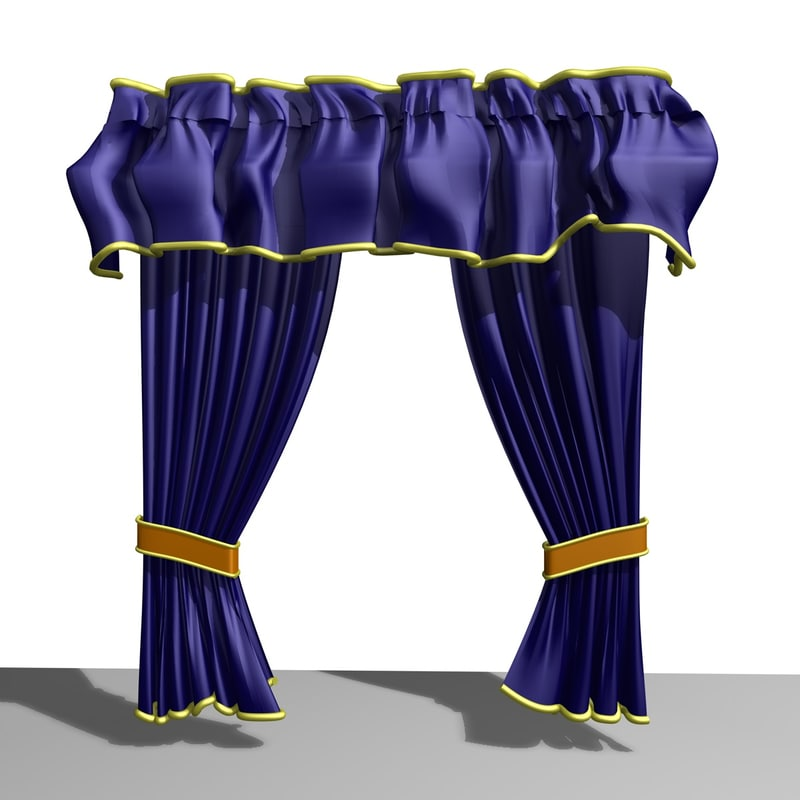 3d country curtain model