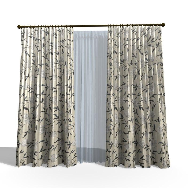 3ds modern curtain 23
