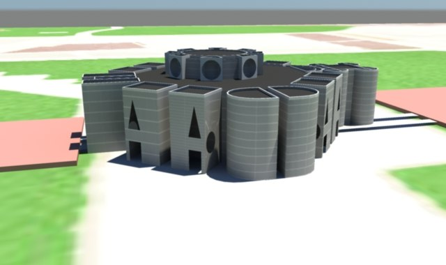 3d model national assembly building bangladesh