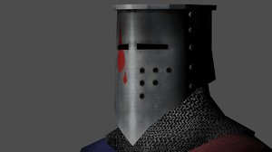 3ds max rigged medieval guard