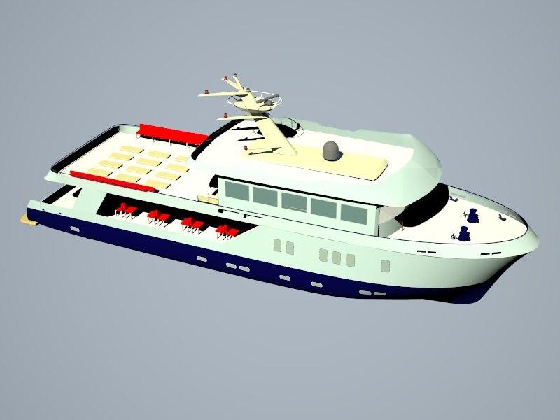 3dm passenger trip ship