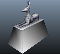 3d anubis egyptian god