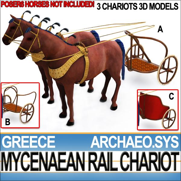 3d model horses ancient greek mycenaean
