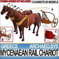 Greek Mycenaean 3 Rail Chariots 1200 BC