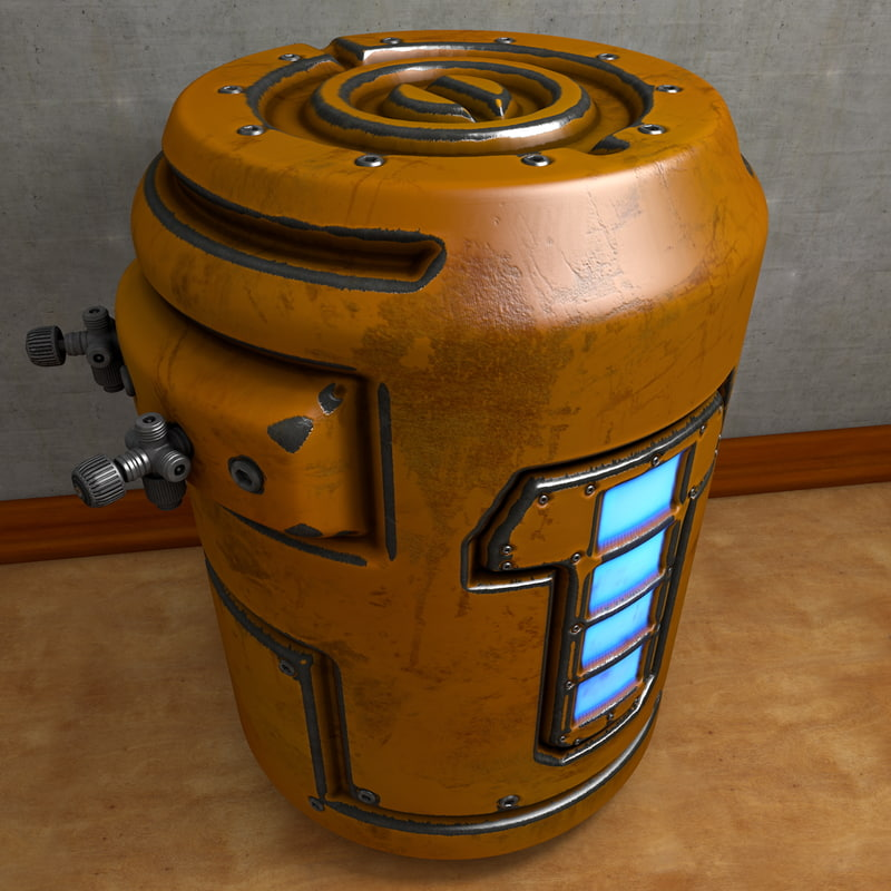 barrel container 3d model