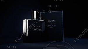 bleu chanel 3d model