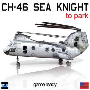 3d model ch-46 sea knight park