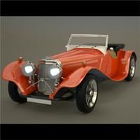 3d model retro sports car