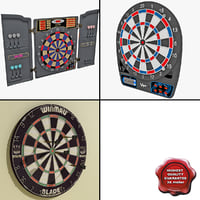 dartboards 2 3d model