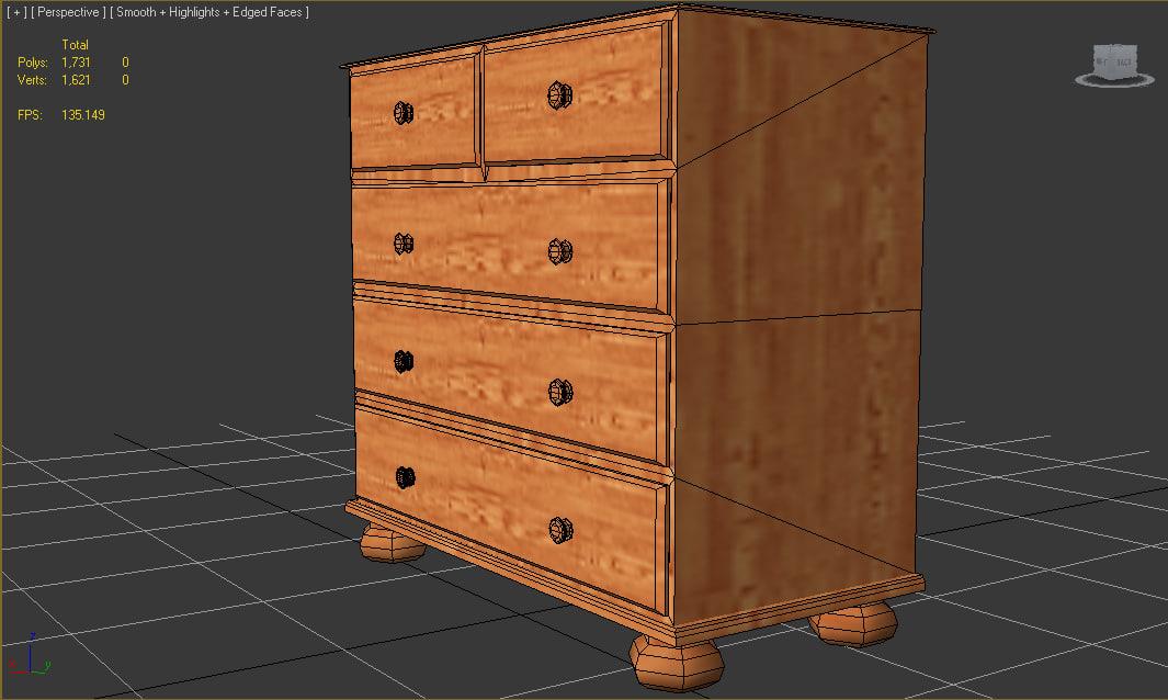 drawers 3d model