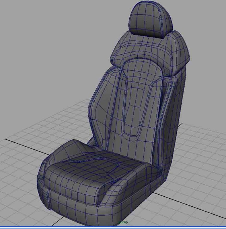 3d model car seat. Black Bedroom Furniture Sets. Home Design Ideas