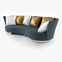 3ds max serpentine sofa