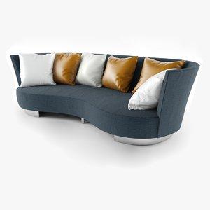 3ds max serpentine sofa