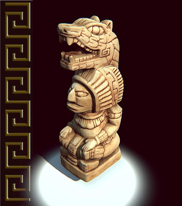 mayan figure replica 3d model