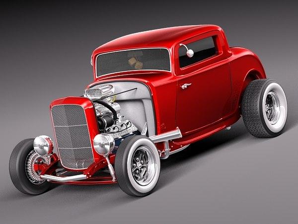 3d model b duce coupe 1932