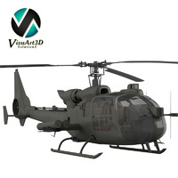 gazelle warrior helicopter 3d model
