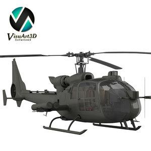 gazelle warrior helicopter 3d model