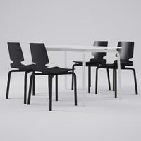 max artek lento chair table