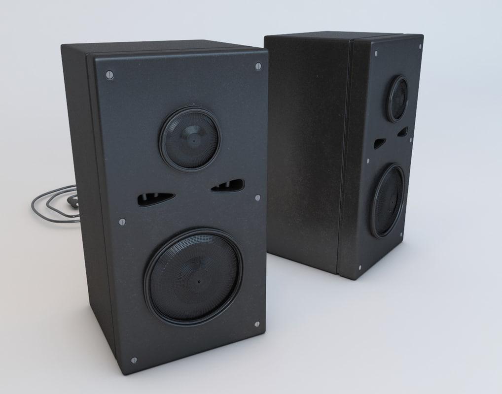 loud speaker 3d model