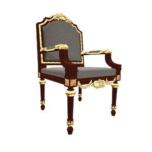 3d luigi armchair model