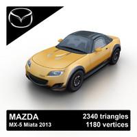 2013 mazda mx-5 miata 3d max