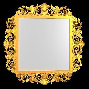 3ds max grape mirror frame