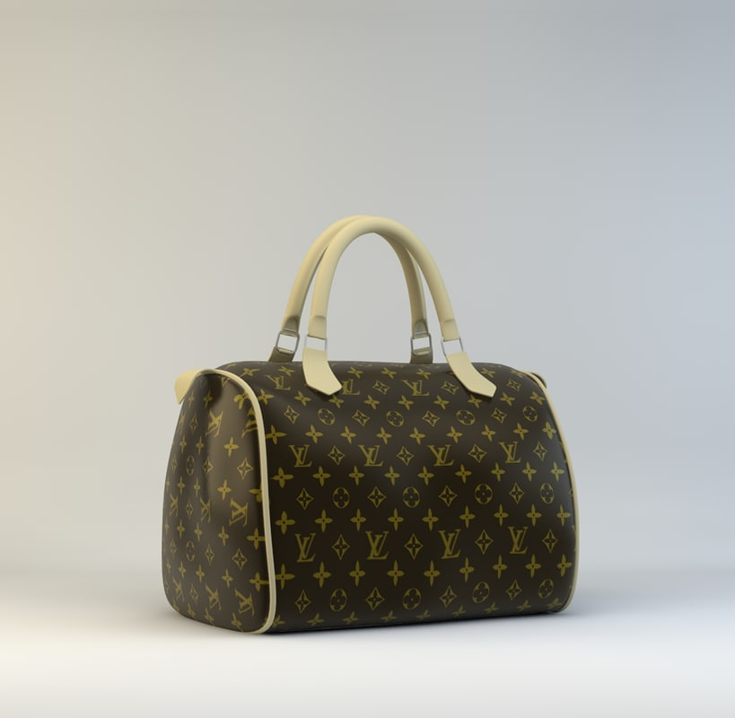 luis vuitton bag 3d c4d