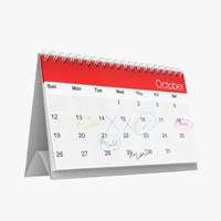 Stehender Kalender