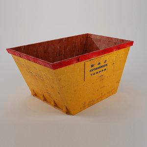 3d model yellow skip