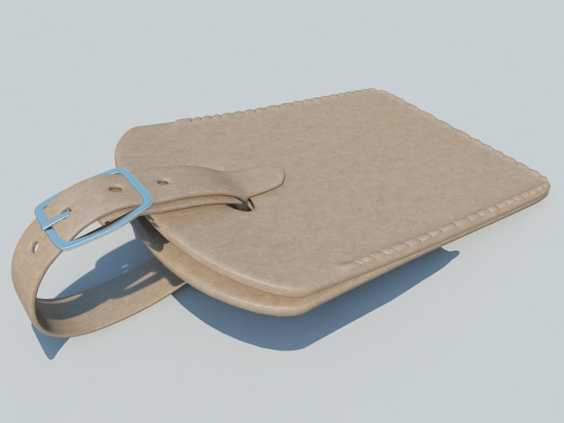 3d leather tag