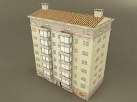 3d model old building 1