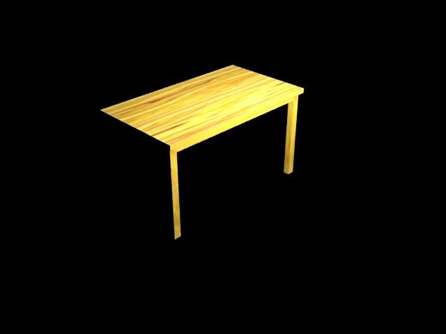 basic table 3d max