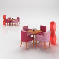 3d textile armchairs