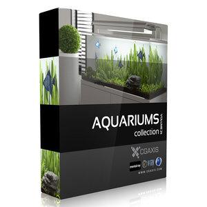 3d model volume 24 aquariums