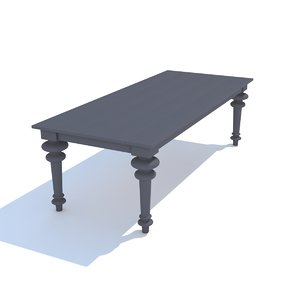 3d chairs table gervasoni gray wood model