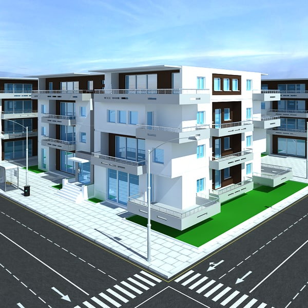 max building streetlights roads