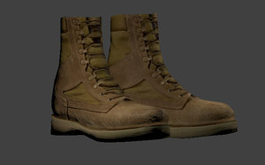free 3ds model low-poly army boots